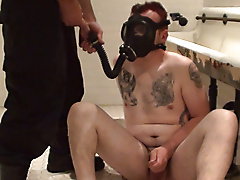 mask room piss rebreathing restraints boots jerk
