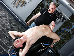 reece bentley sebastian kane blowjob bondage fetish domination masturbation twinks deep throat blond hair trimmed uncut large dick short licking biting lube play location british chains milking rope edging grey