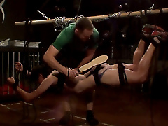 suspension rope bondage crop beating electro