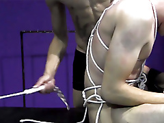 twinks blonde beating rope bondage mask