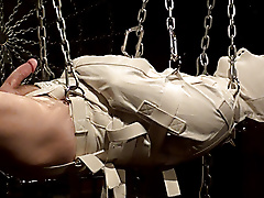 straight jacket gurney sensory deprivation suspension chain bondage