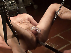sling mask sensory deprivation chastity baton anal play